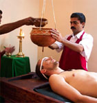 An ayurvedic spa in a resort in Kerala