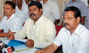 Minister for Sugar and Agriculture Produce Marketing Shivaraj S Thangadagi addressing a press meet in Mangalore on Monday.