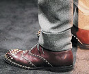 Studded men's shoes