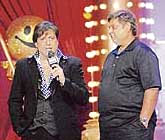 Actor Govinda (L) with  movie director David Dhawan