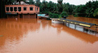 Marooned: A view of flooded Bantwal market. DH photo