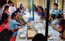 Job security: Women working in the factory at Peenya. dh photo