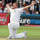 fiery freddie: Andrew Flintoff bowled England to a convincing win in the second Test against Australia at Lord's on Monday with his first five-wicket haul in Test cricket since 2005. AP