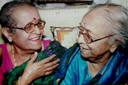 Gangubai with daughter Krishna.
