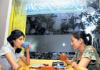 OVER A CUPPA: Students hanging out at Qwiky's, Koramangala. DH photo by Kishor Kumar Bolar