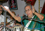 the voice lingers on: On December 15, 2005, Gangubai, affectionately known as 'Baiji' among the music fraternity, gave her first concert to a select audience after recovering from cancer and had been performing since then. DH file photo