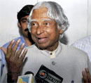 Former President Dr APJ Abdul Kalam speaks to media on his arrival in Kochi on Wednesday night. PTI