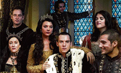 Powerful: The cast of The Tudors.