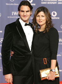 Tennis player Roger Federer with his wife Mirka Vavrinec. File photo. AP
