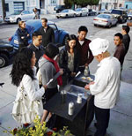 Curtis Kimball, owner of a crème brûlée cart in San Francisco, uses Twitter to drive his customers to his changing location. . NYT