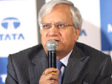 Ravi Kant, Vice Chairman of Tata Motors announcing the financial results for the first quarter in Mumbai on Monday. PTI