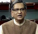 External Affairs Minister S M Krishna speaks on the issue of the Indo-Pak joint statement Indo-Pak joint statement in the Lok Sabha in New Delhi on Thursday. PTI / Courtesy Loksabha TV