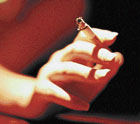 can't kick the habit Women fear quitting smoking may lead to weight gain.