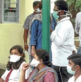 Swine flu panic grips City
