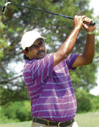 AGE NO BAR: The 45-year-old Ali Sher shared the first-round lead on Wednesday. DH Photo