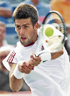 Firm Focus: Serbian Novak Djokovic edged out Canadian Peter Polansky to enter the Montreal Masters third round. AP