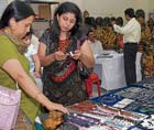 best pick Women admire the jewellery on display. DH PHOTOS BY dinesh S K