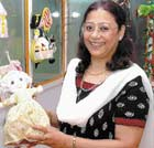 easy solutions Meera Ravi uses appropriate tools for clients of all ages.