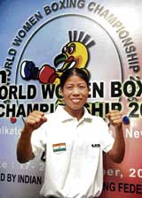 Women pugilists like Mary Kom will get a chance to compete in the showpiece event from the 2012 London Olympics onwards.