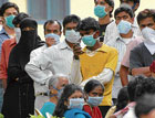panic-striken People waiting for H1N1 Flu check up at he Rajiv Gandhi Institute of Chest Diseases in Bangalore on  Sunday. DH photo