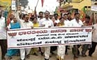BJP workers stage protest march