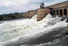 outpour: Water being released from gate numbers 37 and 38 of Krishnaraja Sagar reservoir in Srirangapatna taluk of Mandya district on Tuesday. DH PHOTO
