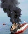 Tanker in collision off Malaysia coast still burning