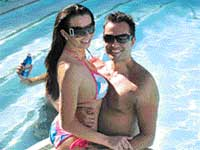 This file photo shows Jasmine Fiore and her husband Ryan Alexander Jenkins in Las Vegas. AP