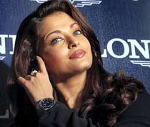 Bollywood actress Aishwarya Rai Bachchan at a promotional event of a watch company in Hyderabad on Saturday.
