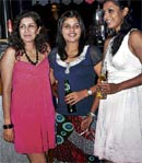 Happy: Winner Sheetal Bhandari (in pink) with her friends.