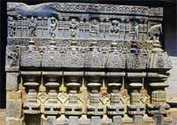 Rich Architecture: A panel carving in the pillared temple
