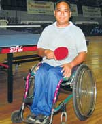 NEW LIFE: Nir Bahadur Gurang is one of the many differently abled athletes determined to make light of their handicap.    DH PHOTO