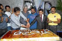 Together: The team of Savaari cutting the cake. DH photos by Dinesh S K