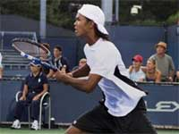 India's Somdev Devvarman in action against USA's Alex Bogomolov during a match of USTA 2009 in New York on Tuesday. PTI