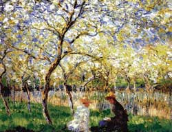 Spring - a painting by Monet