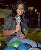 Triumphant Prathima Hegde finally made herbreakthrough at the National bowling championship, winning the title at Gurgaon last week. DH photo / S K Dinesh