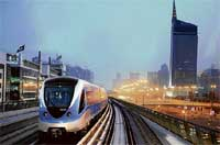 Dubai's new metro network will be inaugurated on Wednesday. The  network is the first in the Gulf countries. AFP