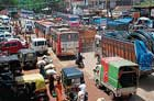 Owing to the roadblock, the movement of vehicles were disrupted for sometime on Wednesday.