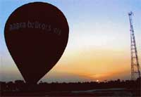 Dream flight: The balloon site in the setting sun. Photos by Sheila Castelino
