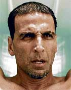 STYLISH: Akshay with slashed eyebrows.
