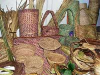 Handicrafts Galore: Women of Karoor and Shirasgaon, remote villages in Sirsi taluk, exhibited their handicrafts such as bags and baskets. Photos by Sandhya Hegde Almane