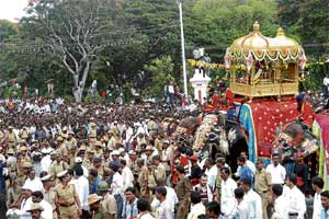 Naada Habba....: Once the people's festival, Dasara today is a govt-sponsored event. File Photo