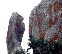 In MM Hills: The huge rock formation, called Nagamale at MM Hills.