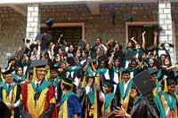 Hats Off: Students of Mount Carmel Institute of Management celebrate.