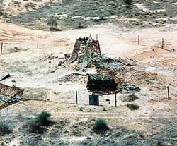 File photo of Pokhran-II nuclear test site. AFP