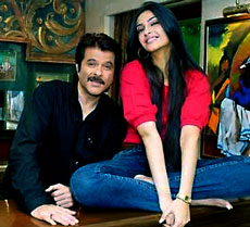 Anil Kapoor and daughter Sonam
