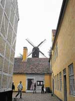 The old wind mill in use
