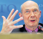 Championing the cause: World Trade Organisation Director General Pascal Lamy. AFP
