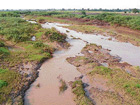 changing course: Silt accumulated in river Don, near Sarawada in Bijapur taluk. DH PHOTO