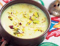 Mouth-watering Badam Phirni.